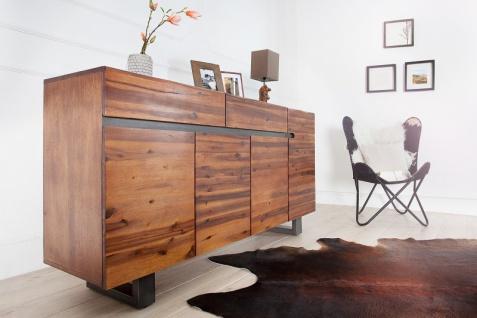 Casa Padrino Luxus Sideboard Natur B.170 x H.90 x T.45 - Fernsehschrank - Kommode - Handgefertigt aus massivem Akazienholz! - Vorschau 4
