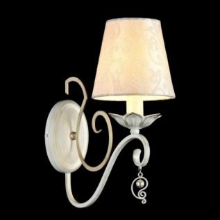 Casa Padrino Barock Wandleuchte Weiß Gold 14 x H 33 cm Antik Stil - Wandlampe Wand Beleuchtung