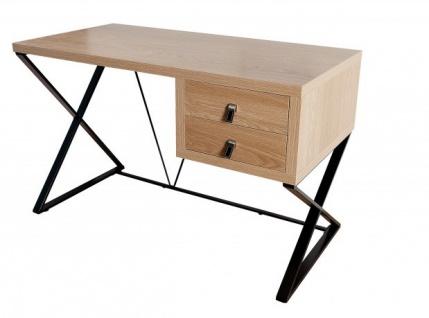 Casa Padrino Schreibtisch Eiche 120cm mit 2 Schubladen - Designer Kollektion - Vorschau 1
