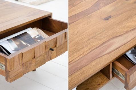 Casa Padrino Designer Massivholz Couchtisch Natur B.117 x H.40 x T. 60 Salon Wohnzimmer Tisch - Vorschau 4