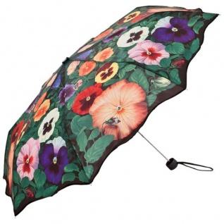 """MySchirm Designer Regenschirm mit """" Stiefmütterchen"""" - Luxus Design - Taschenschirm"""