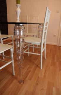 Designer Acryl Esszimmer Set - Ghost Chair Table - Polycarbonat Möbel - 1 Tisch + 4 Stühle - Casa Padrino Designer Möbel Weiß - Casa Padrino Designer Möbel - Vorschau 3
