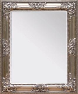 Casa Padrino Barock Wandspiegel Silber Höhe 62 cm, Breite 52 cm - Edel & Prunkvoll - Vintagelook - Handgefertigt
