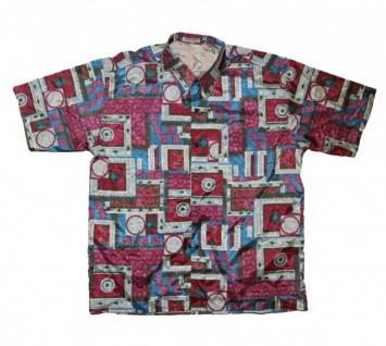 Thai Seidenhemd von Il Padrino Moda Purple/Green/White/Blue Mod69- Hawaii Hemd