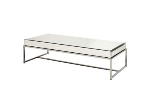 Casa Padrino Luxus Art Deco Designer Couchtisch 150 x 70 x H. 40 cm - Wohnzimmer Salon Tisch - Wohnzimmer Tisch Möbel