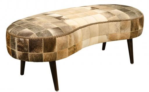 Casa Padrino Luxus Sitzbank mit Kuhfell 130 x 60 x H. 50 cm - Designermöbel - Vorschau 1