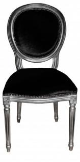 Casa Padrino Barock Esszimmer Stuhl Schwarz - Designer Stuhl - Luxus Qualität GH