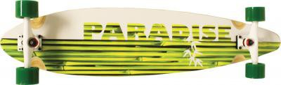 Paradise Longboard Skateboard White Bamboo Pintail 41x9, 75 inch