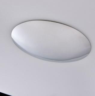 Casa Padrino Luxus Hängeleuchte Weiß / Silber Ø 50 x H. 10 cm - Wohnzimmer Hängelampe - Vorschau 5