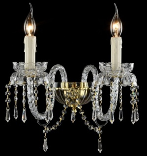 Casa Padrino Barock Wandleuchten Gold 34, 3 x H 29 cm Antik Stil - Wandlampe Wand Beleuchtung