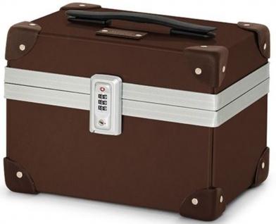 Casa Padrino Luxus Schminkkoffer 29 x 21 x H. 24 cm - Verschiedene Farben - Handgefertigte Echtleder Schminktasche mit Zahlenschloss - Luxus Qualität