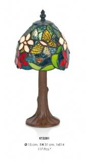Handgefertigte Tiffany Tischleuchte Höhe 31 cm, Durchmesser 15 cm - Leuchte Lampe