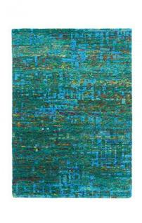 Casa Padrino Designer Seidenteppich Vintage Look Emerald - Handgeknüpft - Möbel Teppich Seide