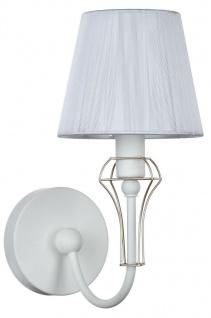 Casa Padrino Jugendstil Wandleuchte Weiß / Gold 15 x 24 x H. 30 cm - Jugendstil Wandlampe