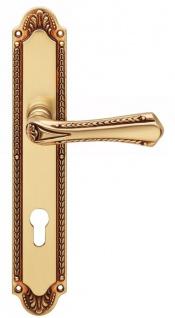 Casa Padrino Jugendstil Türklinken Französisches Gold 14, 6 x H. 27, 5 cm - Messing Türgriff Set im Jugendstil