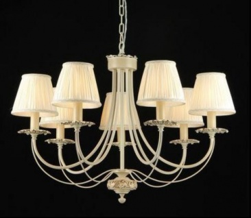 Casa Padrino Barock Decken Kronleuchter Elfenbein 75 x H 52 cm Antik Stil - Möbel Lüster Leuchter Hängeleuchte Hängelampe