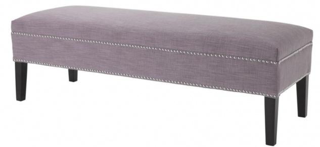 Casa Padrino Luxus Sitzbank Lila 140 x 50 x H. 45 cm - Luxus Qualität
