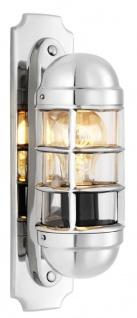 Casa Padrino Luxus Wandleuchte Silber - Designer Hotel Restaurant Möbel