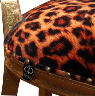Casa Padrino Barock Luxus Esszimmer Stuhl Leopard / Gold - Designer Stuhl - Hotel & Restaurant Möbel - Luxus Qualität - Vorschau 4