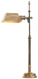 Casa Padrino Luxus Tischleuchte Vintage Messing 16 x 20, 5 x H. 82 cm - Antikstil Tischlampe