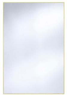 Casa Padrino Wandspiegel mit mattgoldem Aluminiumrahmen 80 x H. 120 cm - Luxus Spiegel