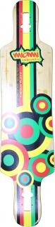 Miami Longboard Drop Through Freeride Deck 100 x 24 cm - 1B Ware mit leichten Kratzern