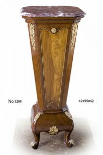 Casa Padrino Barock Säule mit Marmorbesatz 42 x 42 x H. 95 cm - Luxus Qualität