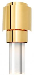 Casa Padrino Wohnzimmer Wandlampe Gold 15 x 10 x H. 37 cm - Luxus Qualität