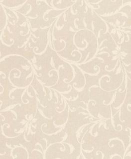 Casa Padrino Barock Textiltapete Creme 10, 05 x 0, 53 m - Tapete im Barockstil - Deko Accessoires