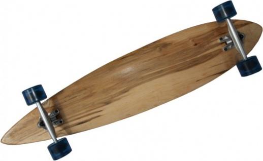 MySkateBrand Longboard Komplettboard Pintail Cruiser Natural Wood / Clear Blue 107 x 22.5 cm