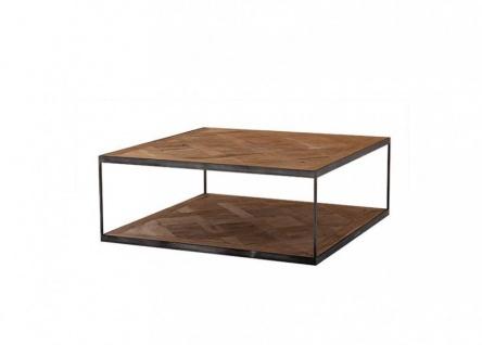 Casa Padrino Luxus Art Deco Designer Beistelltisch 65 x 65 x H. 38 cm - Hotel Tisch Möbel