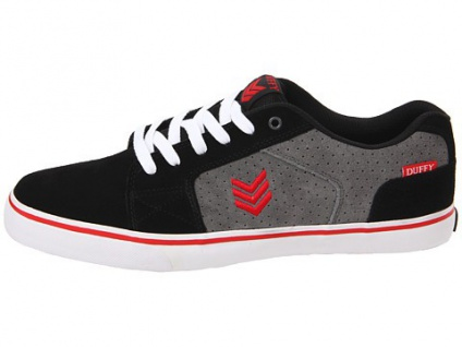 Vox Skateboard Schuhe Duffy Duffy Duffy Schwarz/Sturm/Rot 36bd34