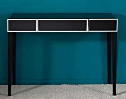 Casa Padrino Luxus Spiegelglas Konsole Schwarz 100 x 33 x H. 76 cm - Luxus Möbel & Accessoires