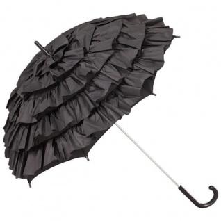 MySchirm Designer Dekoschirm Hochzeitsschirm in Schwarz eleganter Schirm für viele Gelegenheiten - romantischer Dekoschirm