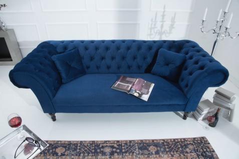 Casa Padrino Chesterfield Sofa in Blau 225 x 90 x H. 79 cm - Designer Chesterfield Sofa - Vorschau 5