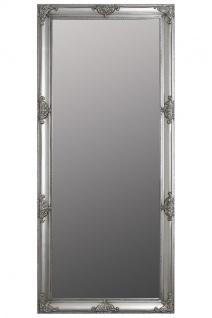 Casa Padrino Barock Spiegel Silber mit wunderschönen antik Verzierungen H. 162 cm - Handgefertigt