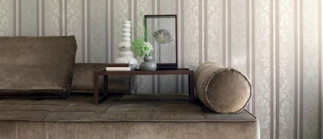 Casa Padrino Barock Textiltapete Hellgrau / Grau / Taupe 10, 05 x 0, 53 m - Wohnzimmer Tapete - Deko Accessoires - Vorschau 2