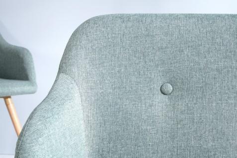 Casa Padrino Designer Sitzbank Hellgrün Breite 116 cm, Höhe 57 cm - Vorschau 3