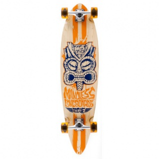 Mindless Tribal Complete Longboard Rogue II Natural/Orange Pintail Komplettboard Komplett mit Koston Kugellagern