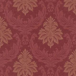 Casa Padrino Barock Textiltapete / Stofftapete Rot - 10, 05 x 0, 53 m - Tapete mit Vlies Struktur