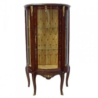 Casa Padrino Barock Vitrine Model Mahagonibraun - Vitrinenschrank - Wohnzimmerschnank