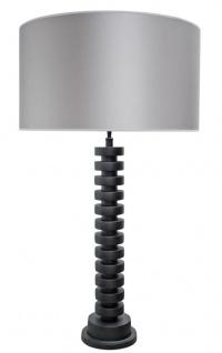 Casa Padrino Luxus Tischleuchte Mattschwarz / Silber 60 x H. 108 cm - Designer Kollektion