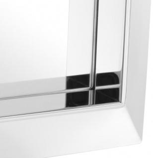 Casa Padrino Luxus Spiegel Silber 31 x 7 x H. 31 cm - Edelstahl Wandspiegel - Vorschau 2