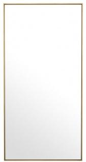 Casa Padrino Luxus Spiegel / Wandspiegel Messingfarben 90 x H. 180 cm - Garderobenspiegel - Wohnzimmer Spiegel - Luxus Qualität