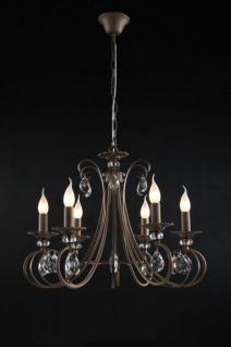 Casa Padrino Barock Kristall Decken Kronleuchter Braun 61 x H 48 cm Antik Stil - Möbel Lüster Leuchter Hängeleuchte Hängelampe