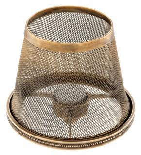 Casa Padrino Luxus Teelichthalter-Lampenschirm Vintage Messing Ø 16 x H. 13, 5 cm - Hotel & Restaurant Accessoires