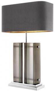 Casa Padrino Luxus Tischleuchte Silber / Grau 45 x 22 x H. 73 cm - Hotel & Restaurant Tischlampe