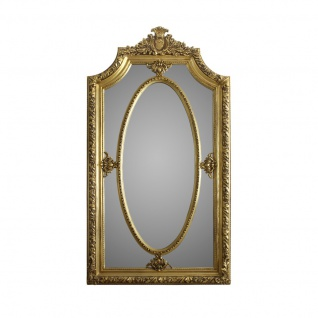 Casa Padrino Barock Spiegel 115 x H. 215 cm - Luxus Wandspiegel