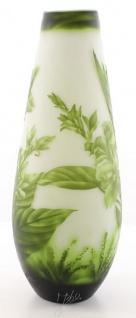 Casa Padrino Luxus Glas Deko Vase Blumen Grün / Weiß Ø 18, 5 x H. 49, 2 cm - Cameoglas Blumenvase - Vorschau 3