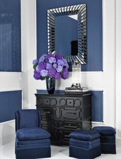 Casa Padrino Glas Vase Blau Ø 20 x H. 30 cm - Luxus Deko Blumenvase - Vorschau 3